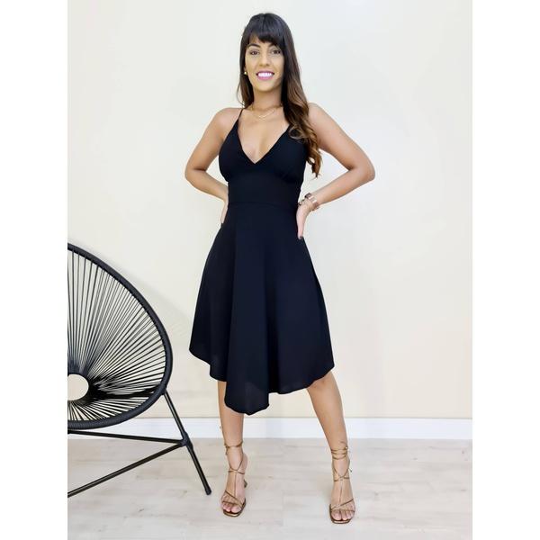 Vestido Eduarda - Preto