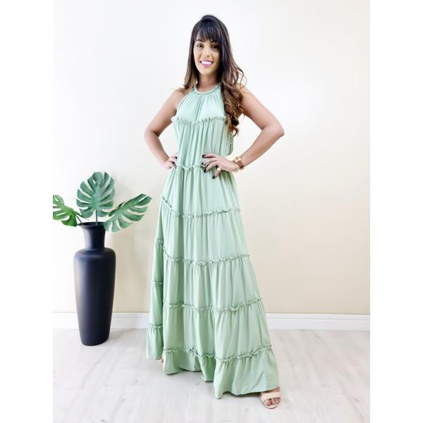 Vestido Juliette Longo - Verde Bebê
