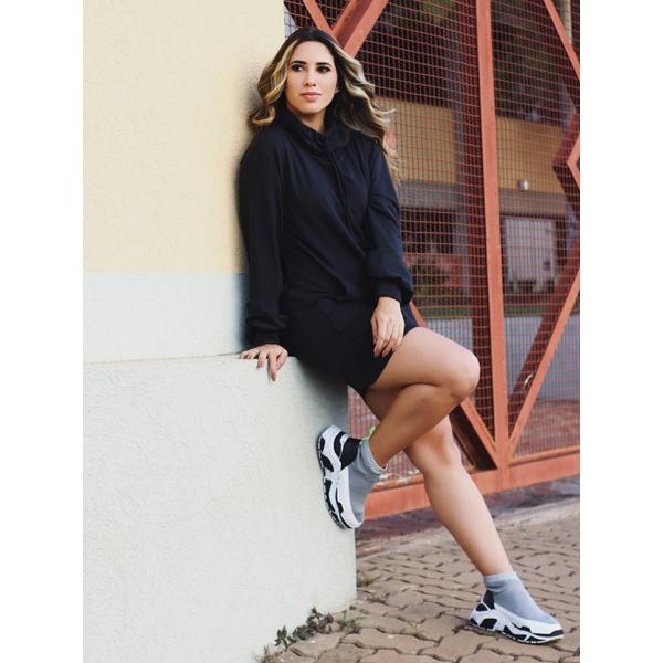 Vestido Moletinho Nicole - Preto
