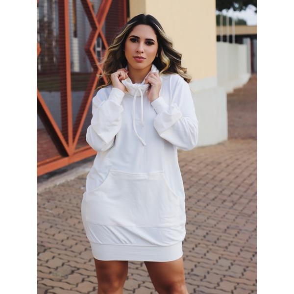 Vestido Moletinho Nicole - Off White