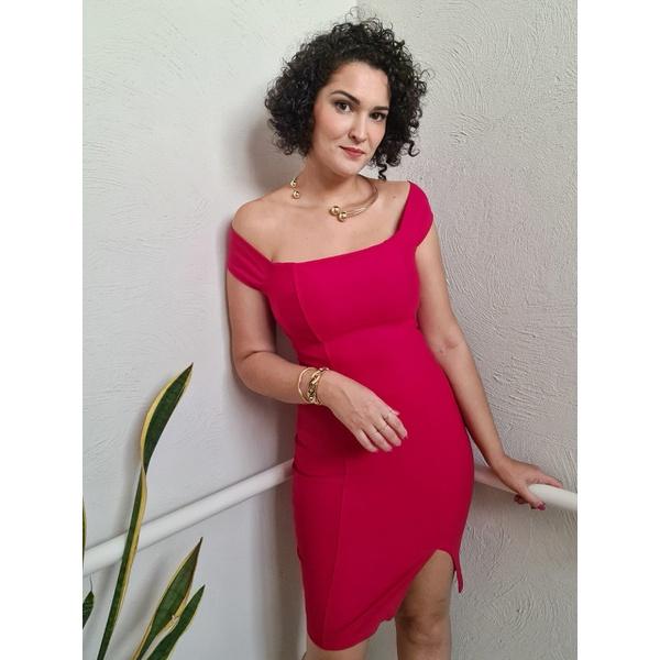Vestido Midi QCL Tainah - Vermelho