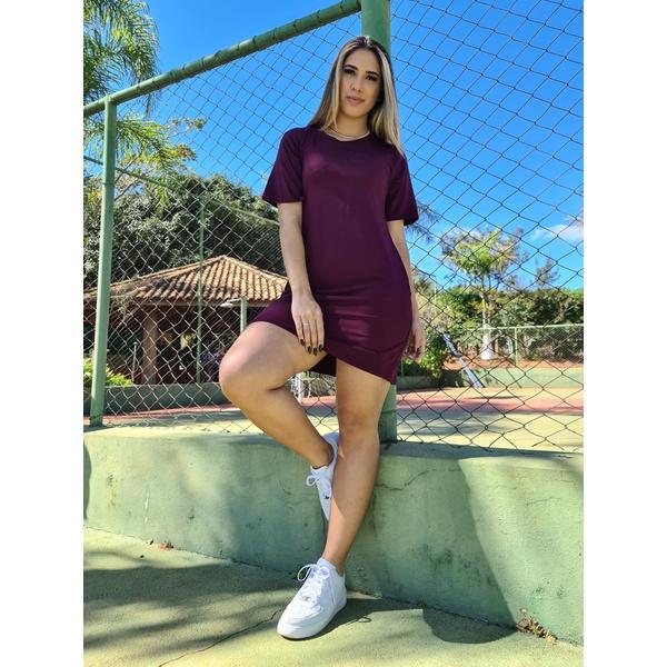 Vestido Camiseta - Marsala