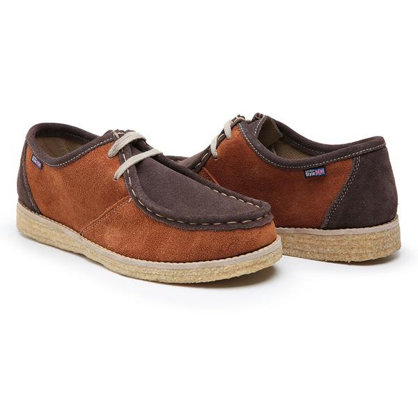 Sapato London caramelo e marrom