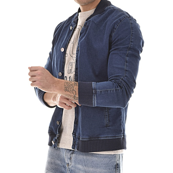 JAQUETA JEANS MASCULINA VINTAGE HENRY