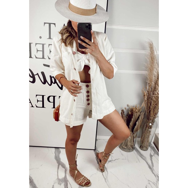 Camisa Loonguete Camila Off White