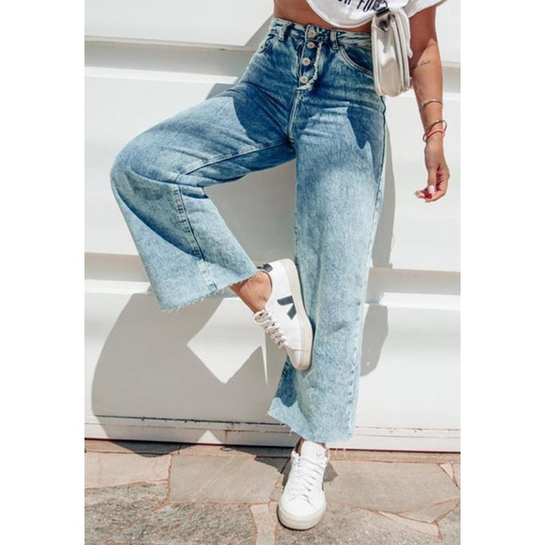 Calça Wide Leg Jeans Blair Eco