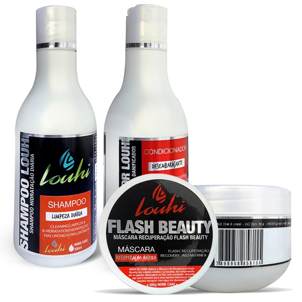 Kit Shampoo 300ml + Condicionador 300ml + Máscara 300g