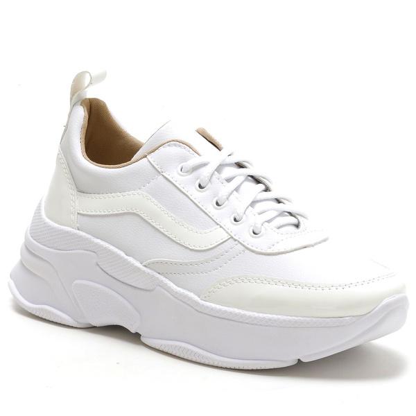 Tênis Feminino Sneaker Chunky Branco
