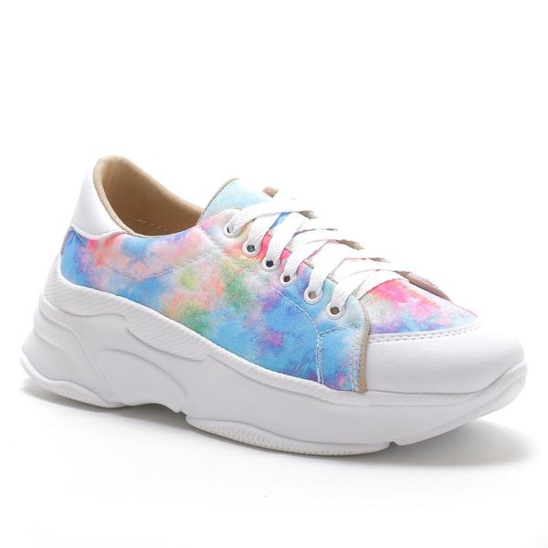 Tênis Feminino Sneaker Chunky Tiedye