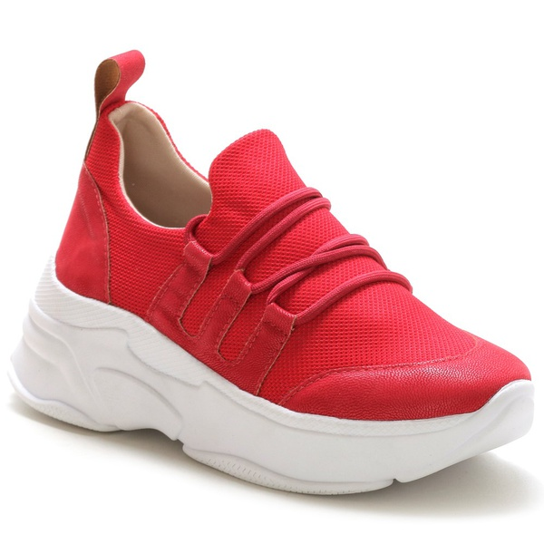 Tênis Feminino Sneaker Chunky Vermelho