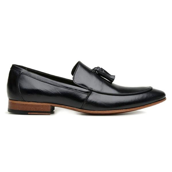 Sapato Social Preto Couro Wood Bambolim