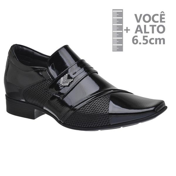 Sapato com Salto Interno Jota Pe Preto Grow Air Princ