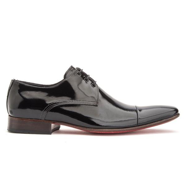 Sapato Social Verniz Derby de Amarrar