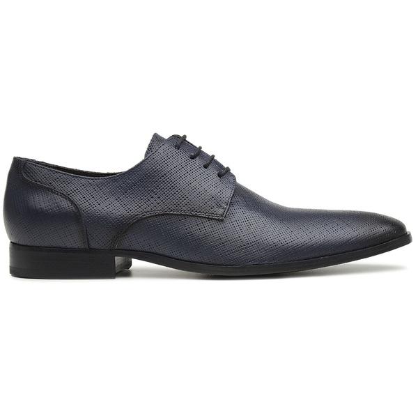 Sapato Social Azul Marinho em Couro