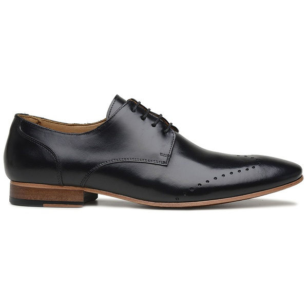 Sapato Social Preto em Couro Wood