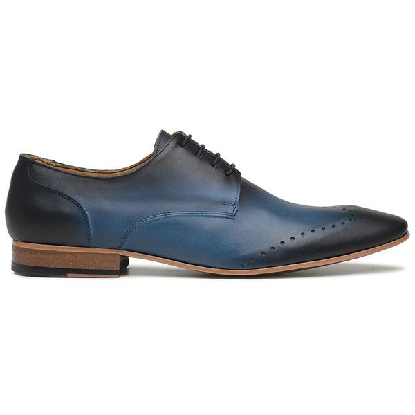 Sapato Social Azul em Couro Veg