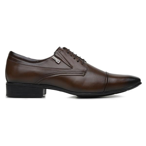 Sapato Jota Pe Marrom Couro Air Manhattan