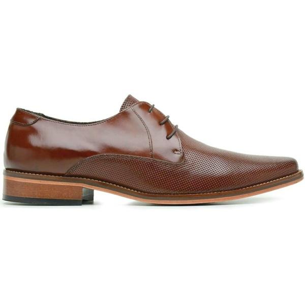 Sapato Social Couro Marrom Estampa