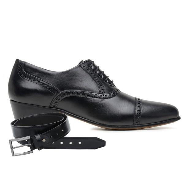 Sapato para dança de salão Masculino em Couro + Cinto de Couro