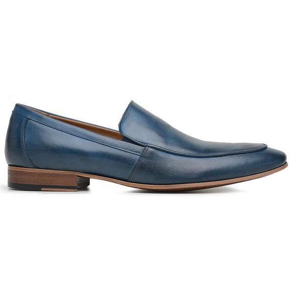 Sapato Social Azul Couro