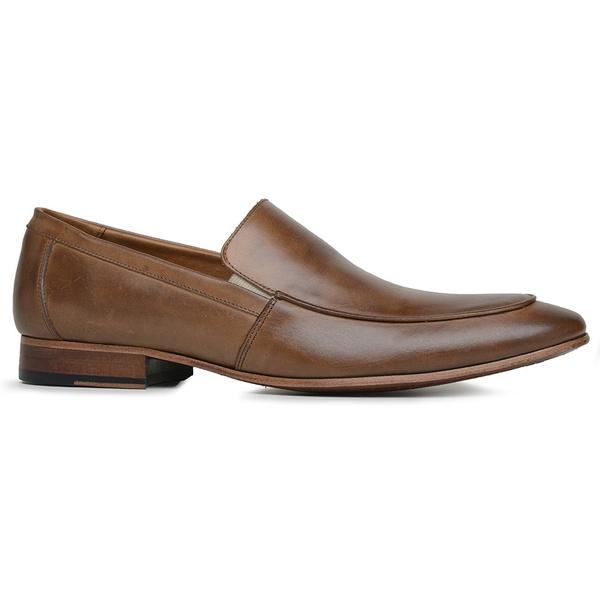 Sapato Social Marrom Tan Couro