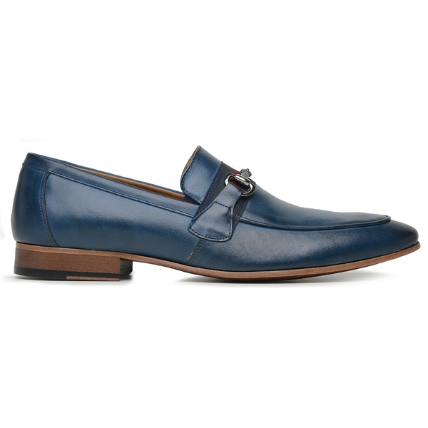 Sapato Social Couro Azul Premium