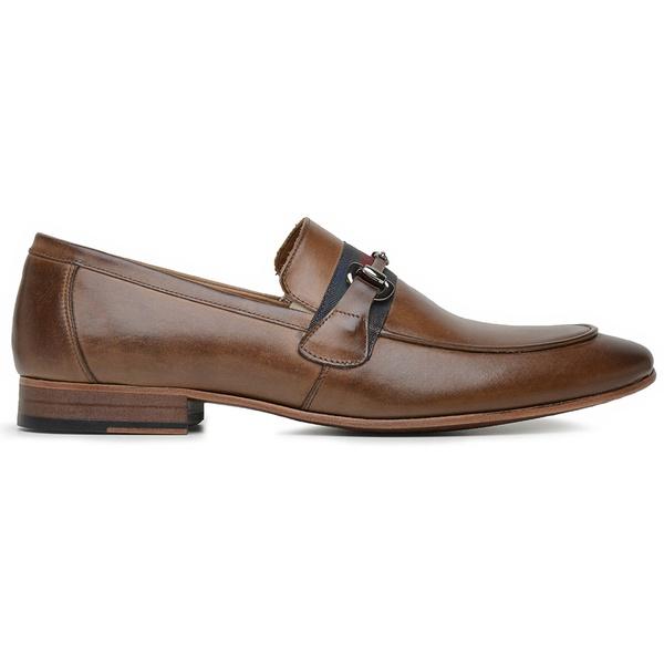 Sapato Social Couro Tan Marrom Premium