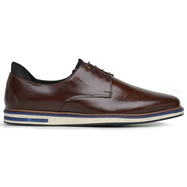 Sapato Casual Oxford Mouro Couro Wood