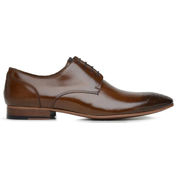 Sapato Social Couro Caramelo Wood