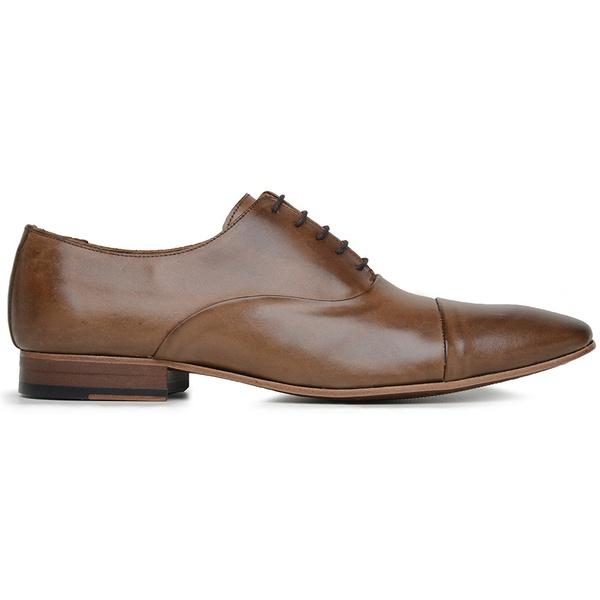Sapato Social Couro Tan Marrom kit
