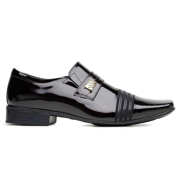 Sapato Social Jota Pe Vinho Verniz Air Prince Flex