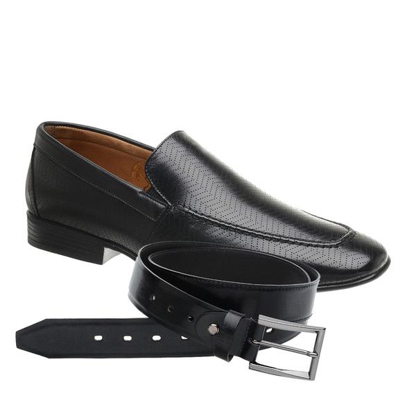Sapato Jota Pe Preto Air Soft Fit + Cinto de Couro