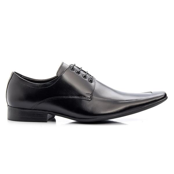 Sapato Social Masculino Preto em Couro De Amarrar