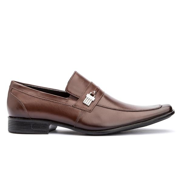 Sapato Social Masculino Marrom em Couro de calçar