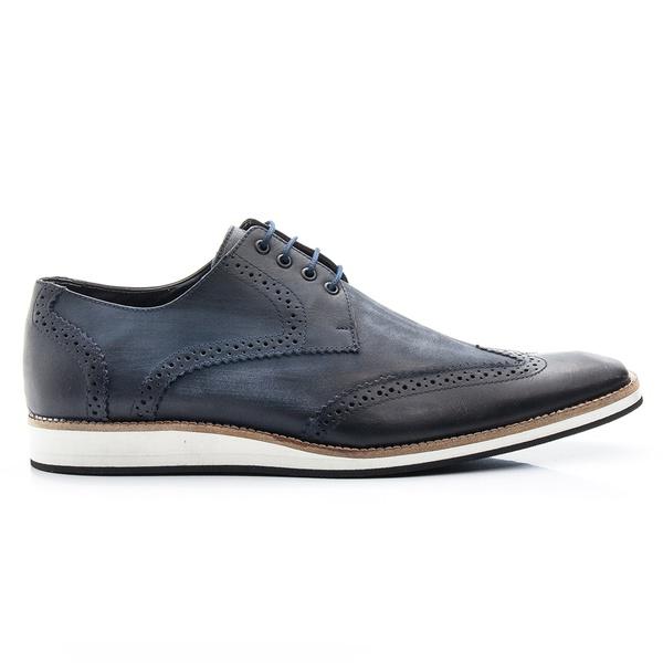Sapato Casual Oxford Marinho Estonado