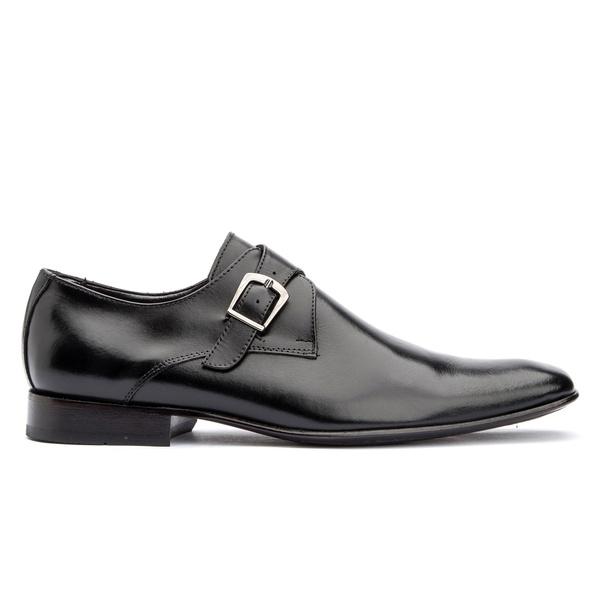 Sapato Social Preto Solado de Couro Roma