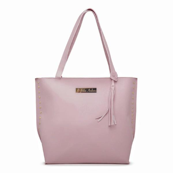 Bolsa Feminina Sacola Bag Rosa Julia Andara