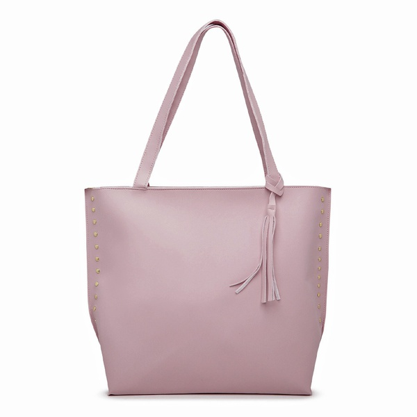 Bolsa Feminina Sacola Bag Rosa