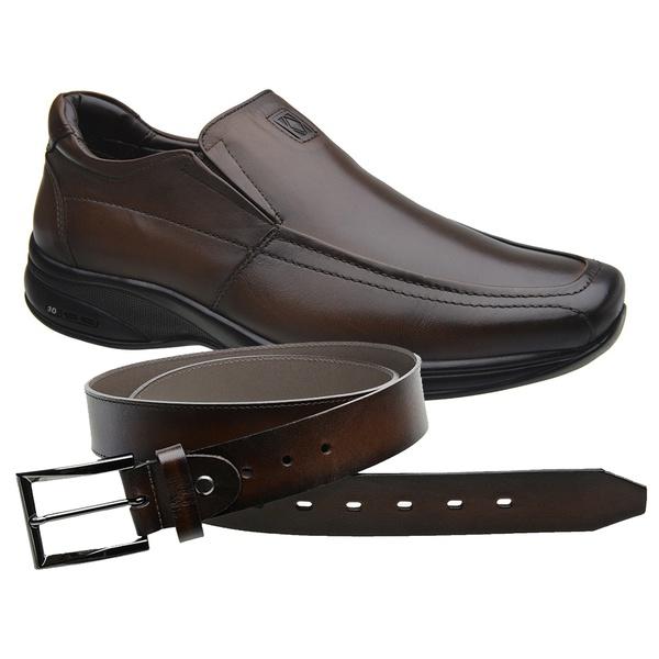 Sapato Jota Pe Marrom 3D Air Imax + Cinto de Couro