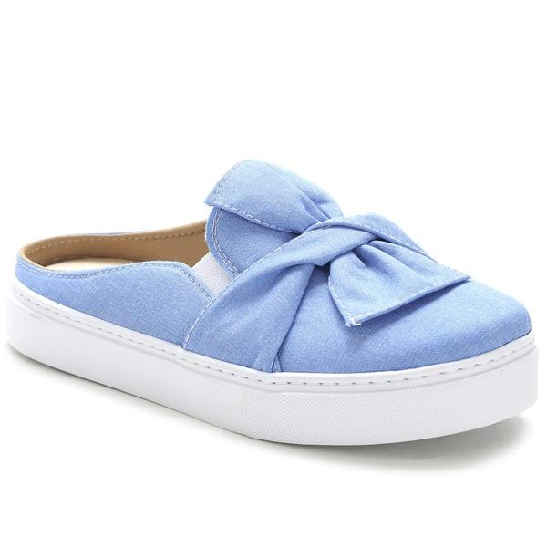 Tênis Mule Feminino Jeans Conforto Julia Andara