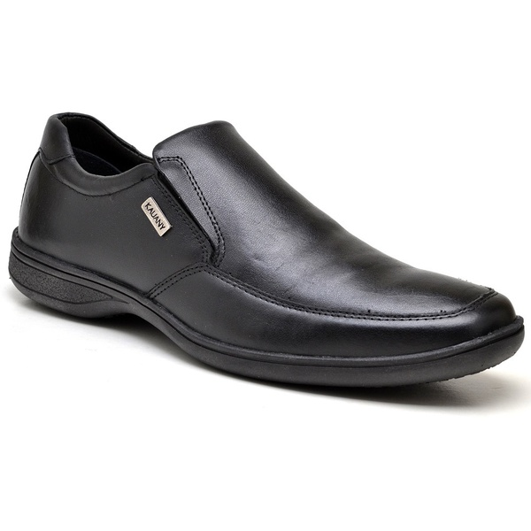 Sapato Social Masculino Preto Couro
