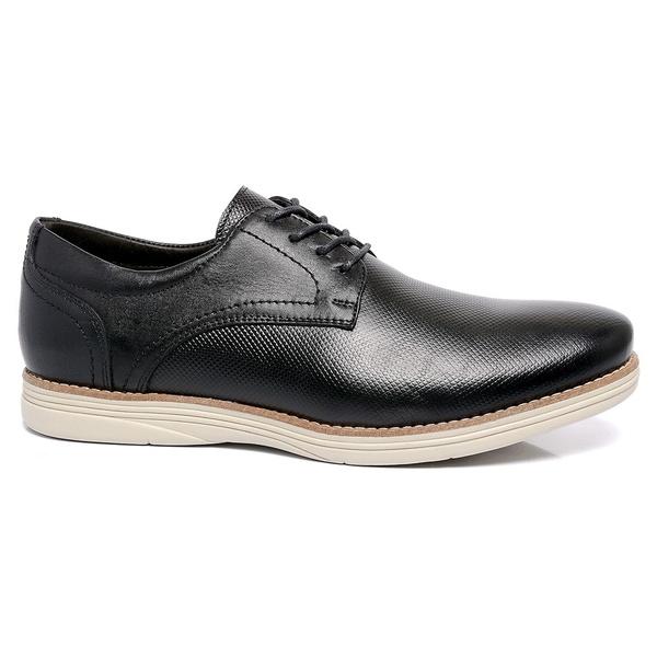 Sapato Masculino Preto em Couro Comfort Laser