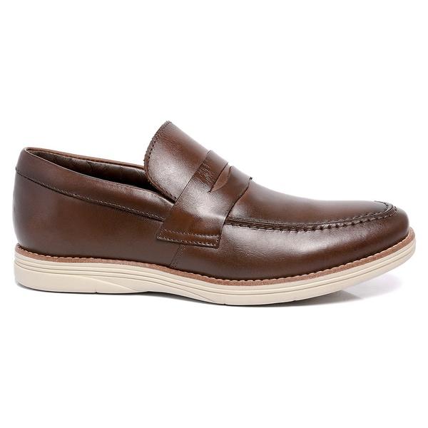 Sapato Masculino Café em Couro Comfort