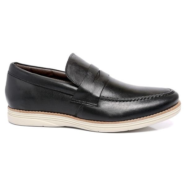Sapato Masculino Preto em Couro Comfort