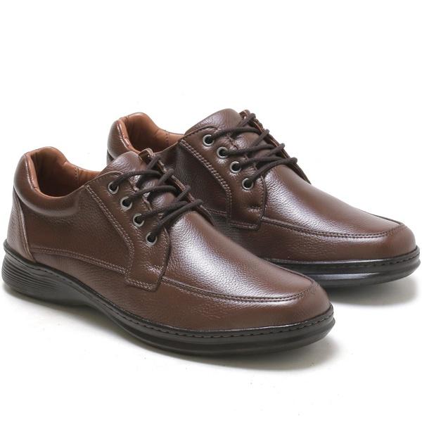 Sapato Social Marrom Conforto em Couro