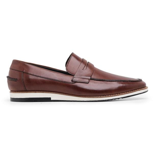 Sapato Casual Couro Marrom Mouro