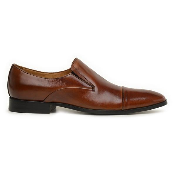 Sapato Social Couro Marrom Wood