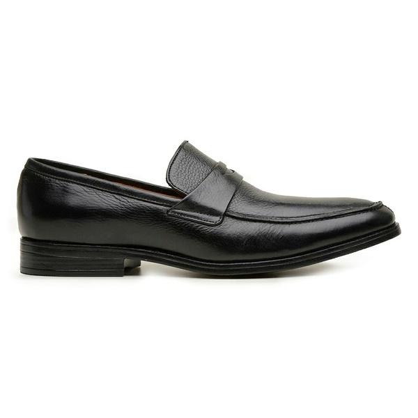 Sapato Social Couro Preto Confort