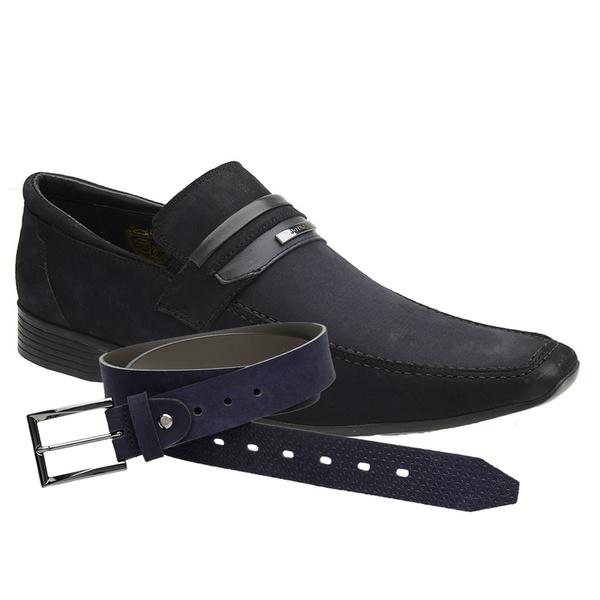 Sapato Casual Jota Pe Marinho Air Guess + Cinto Casual