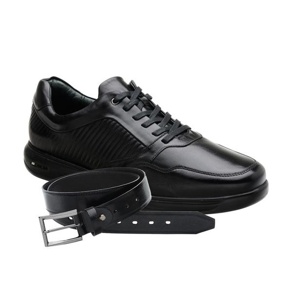 Sapato Jota Pe 3D Total Air Preto + Cinto Tamanho Grande